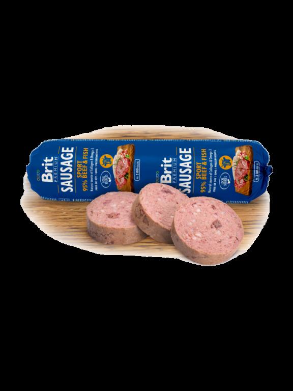 Brit Premium Sausage Sport - hovězí & ryba