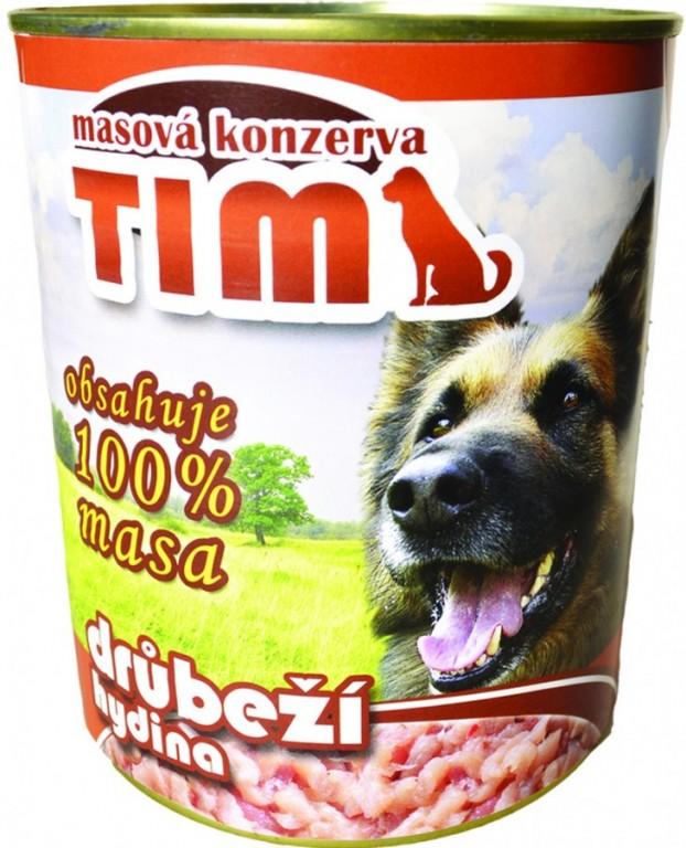 Drůbeží konzerva pro psy Tim, 1200 g