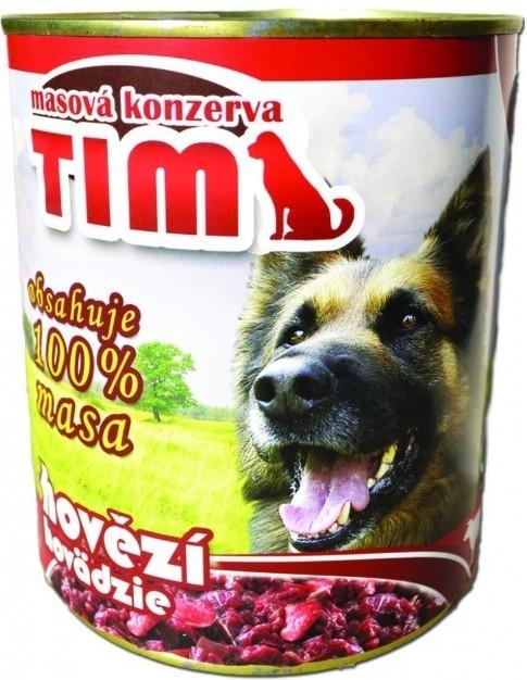 Hovězí konzerva Tim pro psy, 1200 g