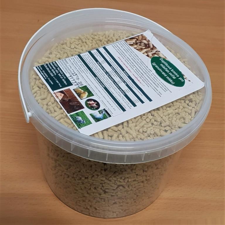 Granulované mléko pro mláďata zvířat, 2,5 kg