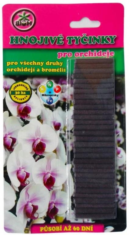 BIOM tyčinkové hnojivo pro orchideje, 30 ks