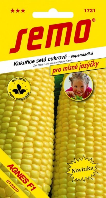 Kukuřice cukrová - Agnes F1 (náhrada = Longa F1), 3 g - MLSNÉ JAZÝČKY