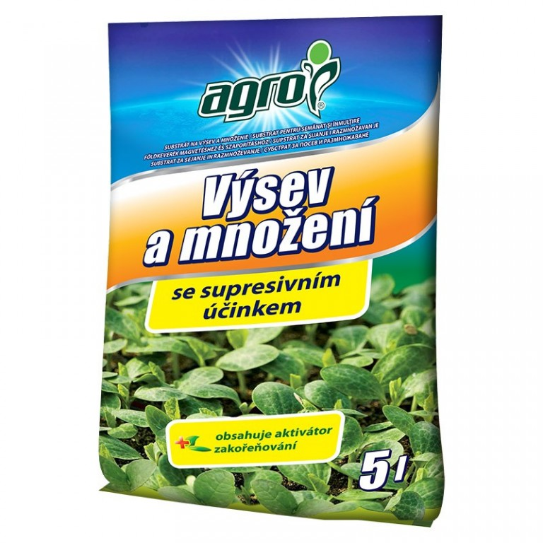 AGRO Substrát pro výsev a množení, 5 l