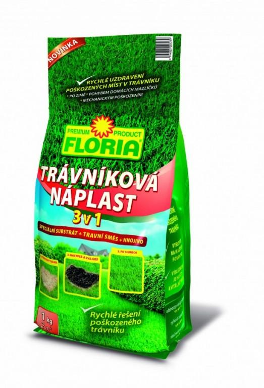 FLORIA Trávníková náplast 3 v 1, 1 kg