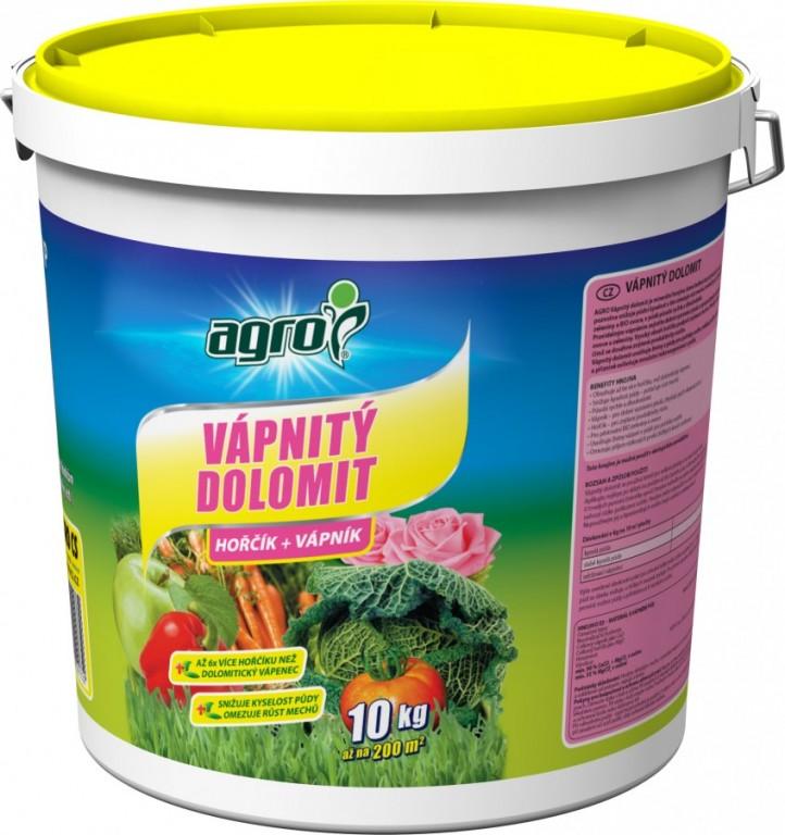 Agro Vápnitý dolomit plastový kbelík, 10