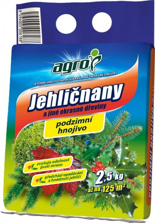 AGRO Podzimní hnojivo pro jehličnany, 2,5 kg