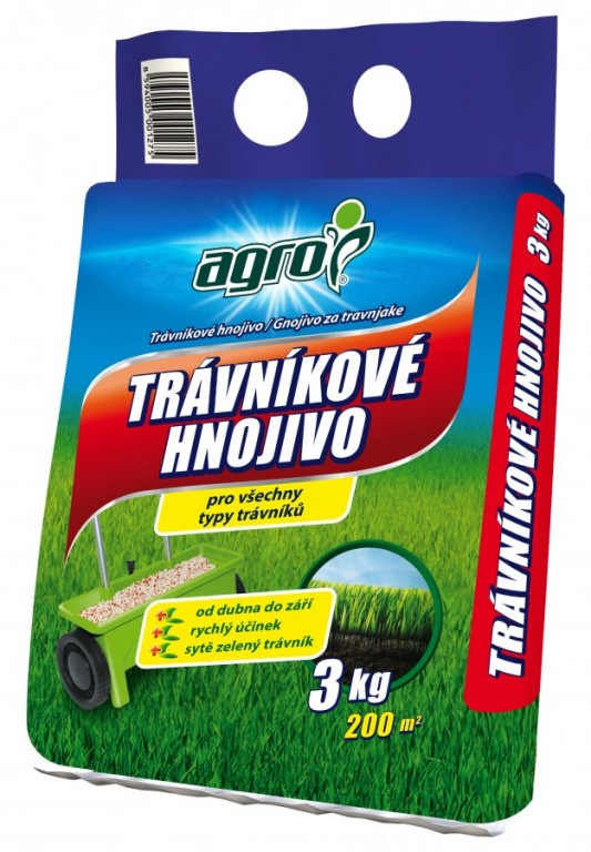 AGRO Trávníkové hnojivo, 3 kg