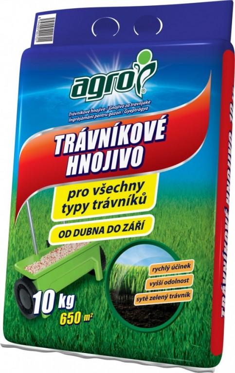 AGRO Trávníkové hnojivo pytel, 10 kg