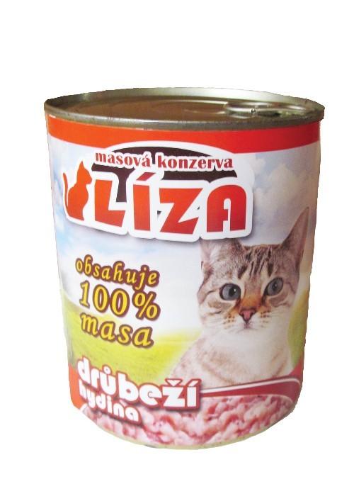 Líza konzerva pro kočky drůbeží, 800 g