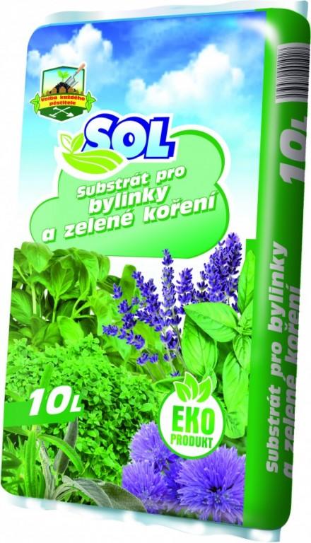 SOL Substrát pro bylinky a zelené koření, 10l